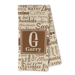 Coffee Lover Microfiber Kitchen Towel (Personalized)
