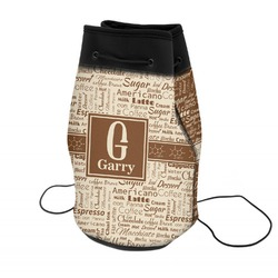 Coffee Lover Neoprene Drawstring Backpack (Personalized)