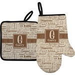 Coffee Lover Oven Mitt & Pot Holder (Personalized)