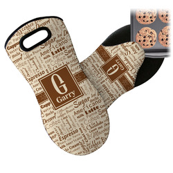 Coffee Lover Neoprene Oven Mitt (Personalized)