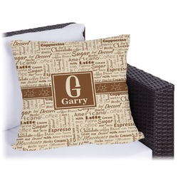 """Coffee Lover Outdoor Pillow - 26"""" (Personalized)"""