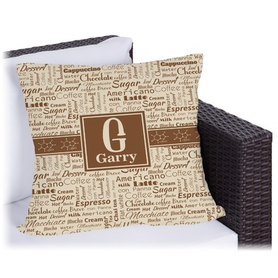 Coffee Lover Outdoor Pillow (Personalized)