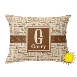 Coffee Lover Outdoor Throw Pillow (Rectangular) (Personalized)