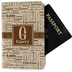 Coffee Lover Passport Holder - Fabric (Personalized)