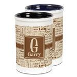 Coffee Lover Ceramic Pencil Holder - Large