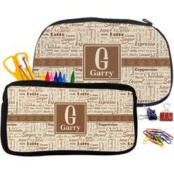 Coffee Lover Pencil / School Supplies Bag (Personalized)