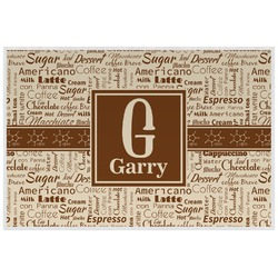 Coffee Lover Laminated Placemat w/ Name and Initial