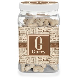 Coffee Lover Pet Treat Jar (Personalized)