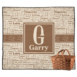 Coffee Lover Outdoor Picnic Blanket (Personalized)
