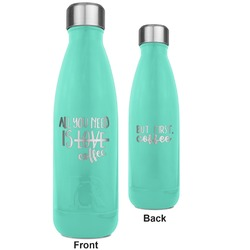 Coffee Lover RTIC Bottle - Teal - Engraved Front & Back (Personalized)