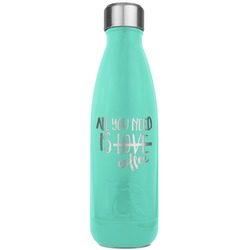Coffee Lover RTIC Bottle - Teal (Personalized)