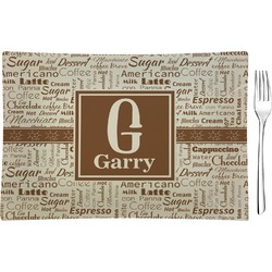 Coffee Lover Glass Rectangular Appetizer / Dessert Plate - Single or Set (Personalized)