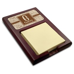 Coffee Lover Red Mahogany Sticky Note Holder (Personalized)