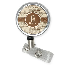 Coffee Lover Retractable Badge Reel (Personalized)