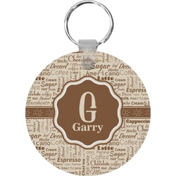 Coffee Lover Round Keychain (Personalized)