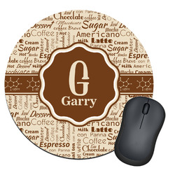 Coffee Lover Round Mouse Pad (Personalized)