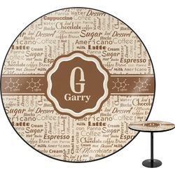"Coffee Lover Round Table - 30"" (Personalized)"