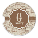 Coffee Lover Sandstone Car Coasters (Personalized)