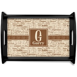 Coffee Lover Wooden Trays (Personalized)