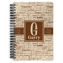 Coffee Lover Spiral Bound Notebook (Personalized)