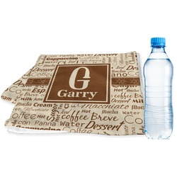 Coffee Lover Sports & Fitness Towel (Personalized)