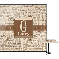 Coffee Lover Square Table Top (Personalized)
