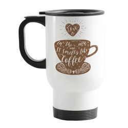Coffee Lover Stainless Steel Travel Mug with Handle