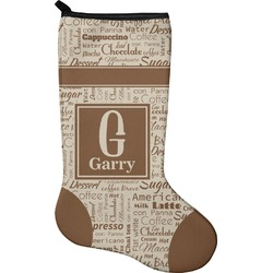 Coffee Lover Holiday Stocking - Neoprene (Personalized)