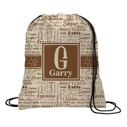 Coffee Lover Drawstring Backpack (Personalized)