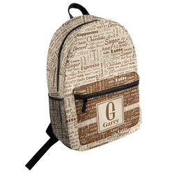 Coffee Lover Student Backpack (Personalized)