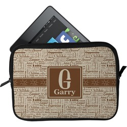 Coffee Lover Tablet Case / Sleeve (Personalized)