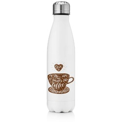 Coffee Lover Tapered Water Bottle - 17 oz. - Stainless Steel (Personalized)