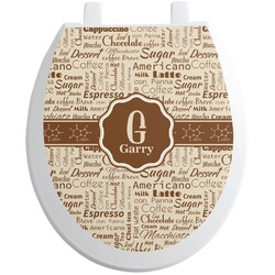 Coffee Lover Toilet Seat Decal (Personalized)