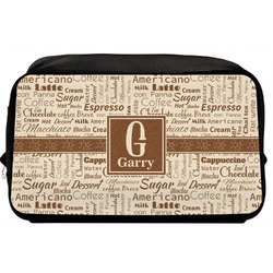 Coffee Lover Toiletry Bag / Dopp Kit (Personalized)