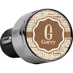 Coffee Lover USB Car Charger (Personalized)