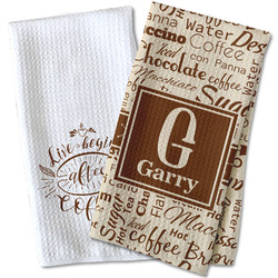 Coffee Lover Waffle Weave Kitchen Towel (Personalized)