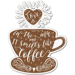 Coffee Lover Graphic Decal - Custom Sized (Personalized)