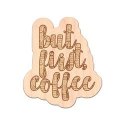 Coffee Lover Genuine Wood Sticker (Personalized)