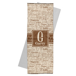 Coffee Lover Yoga Mat Towel (Personalized)