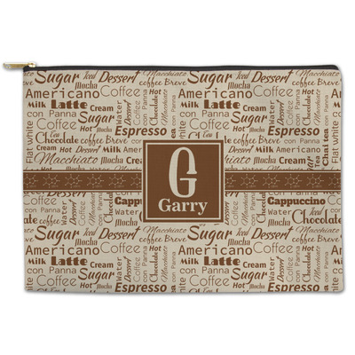 Coffee Lover Zipper Pouch (Personalized)