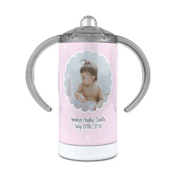 Baby Girl Photo 12 oz Stainless Steel Sippy Cup