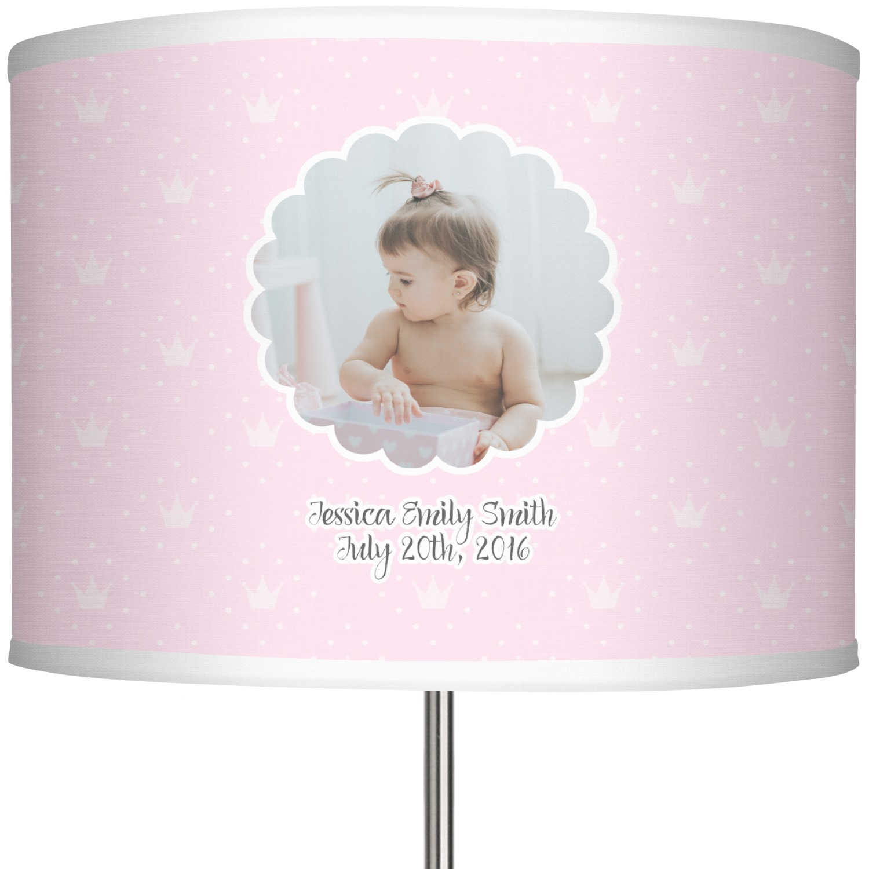 Baby girl photo 13 drum lamp shade personalized youcustomizeit baby girl photo 13 in drum lamp shade main aloadofball Images