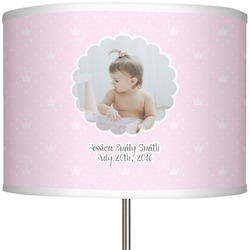 "Baby Girl Photo 13"" Drum Lamp Shade (Personalized)"
