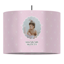 Baby Girl Photo Drum Pendant Lamp (Personalized)