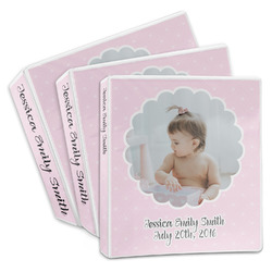Baby Girl Photo 3-Ring Binder (Personalized)