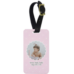 Baby Girl Photo Metal Luggage Tag