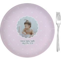 "Baby Girl Photo 8"" Glass Appetizer / Dessert Plates - Single or Set (Personalized)"