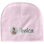 Baby Girl Photo Baby Hat (Beanie) (Personalized)