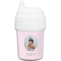 Baby Girl Photo Baby Sippy Cup (Personalized)