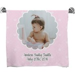 Baby Girl Photo Bath Towel (Personalized)